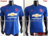 Phân biệt áo original và fake - áo đấu Manchester United Away 2016-2017