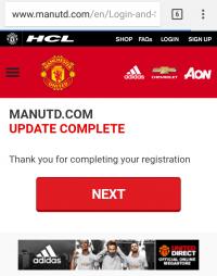 Hướng dẫn đăng ký tài khoản trên trang ManUtd.com