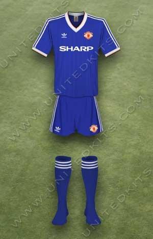 Trang phục thi đấu Manchester United mùa giải 1984 1985 thứ ba kiểu 01