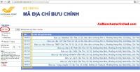 Cách tìm mã bưu chính (zip postal code)
